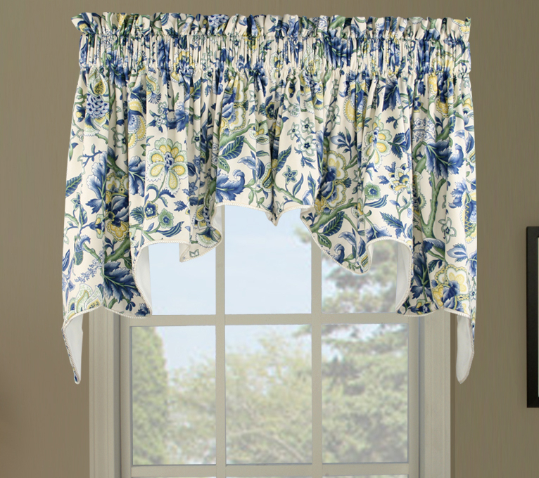Swag Curtains: Solid, Patterned, Sheer For Maize Vertical Ruffled Waterfall Valance And Curtain Tiers (View 29 of 30)