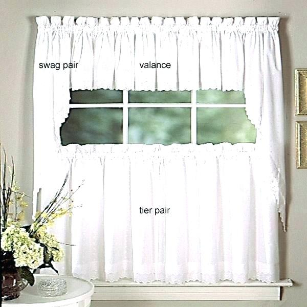 Swag Kitchen Curtains For Fluttering Butterfly White Embroidered Tier, Swag, Or Valance Kitchen Curtains (View 41 of 50)