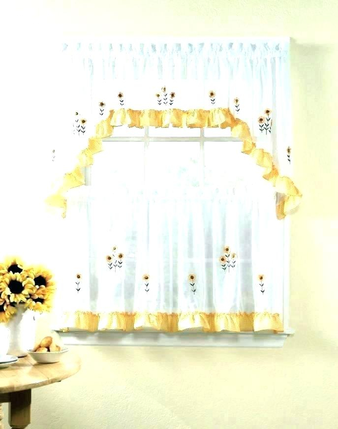 Swag Kitchen Curtains Pertaining To Fluttering Butterfly White Embroidered Tier, Swag, Or Valance Kitchen Curtains (View 45 of 50)