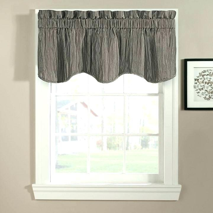 Swag Valances Window Treatments – Uknatura With Silver Vertical Ruffled Waterfall Valance And Curtain Tiers (View 34 of 50)