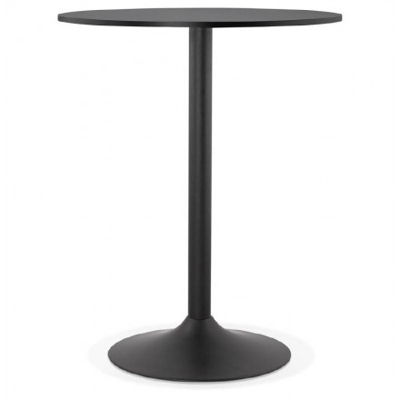 Table High High Table Lucie Design Wooden Feet (Ø 90 Cm) Black Metal (Black) Within Latest Lucy Bar Height Dining Tables (#17 of 20)