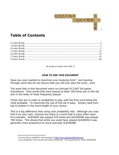 Table Of Contents – Ottawa Scrabble Club Intended For Flinders Forge 24 Inch Tier Pairs In Navy (View 18 of 30)