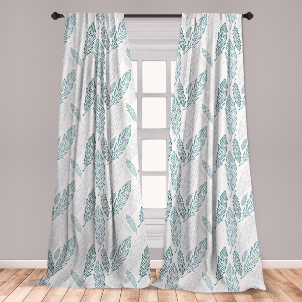Teal Window Treatments | Wayfair With Pastel Damask Printed Room Darkening Kitchen Tiers (#39 of 50)