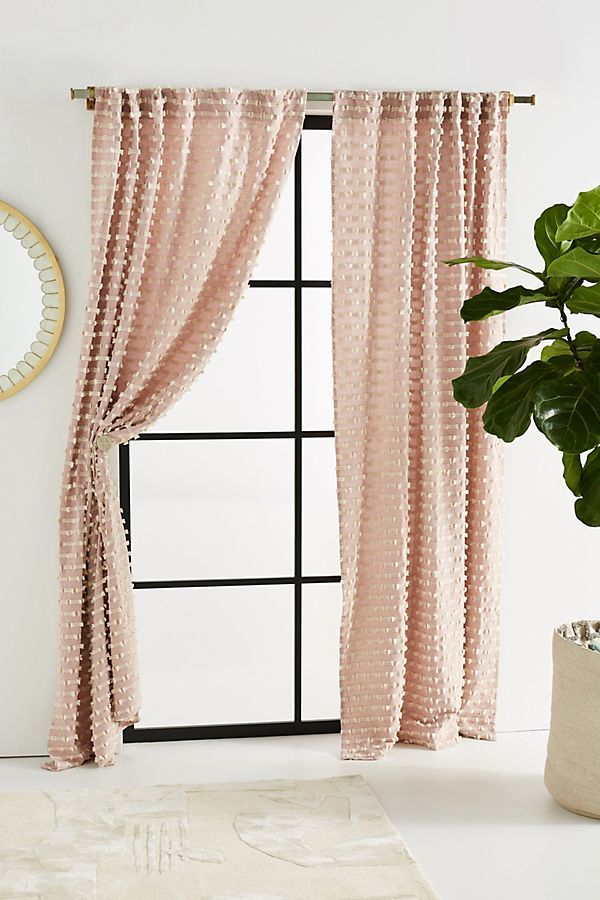 Textured Mareika Curtain   61 Jane In 2019   Living Room Within Modern Subtle Texture Solid Red Kitchen Curtains (#44 of 50)