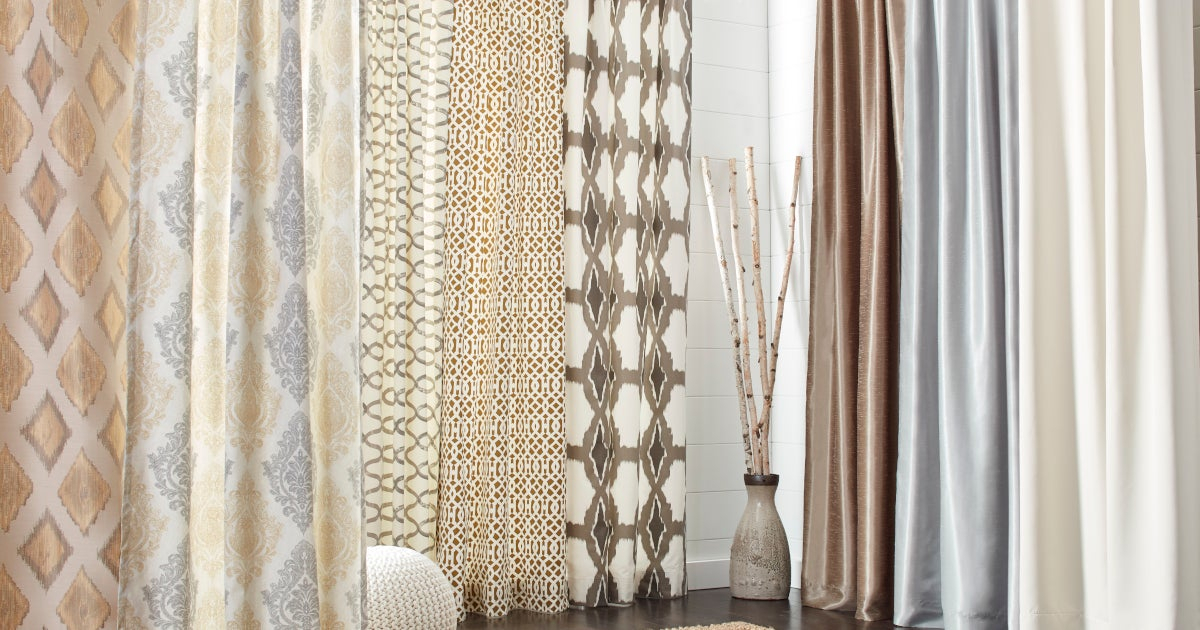 The Best Types Of Fabric Curtains For Your Home | Overstock Intended For Embroidered 'Coffee Cup' 5 Piece Kitchen Curtain Sets (View 26 of 30)
