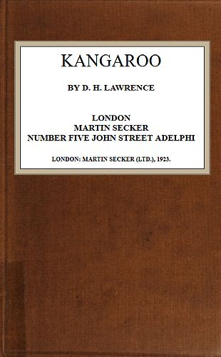 The Project Gutenberg Ebook Of Kangaroo,d. H. Lawrence (#20 of 30)