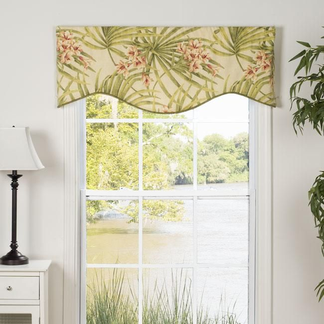 This Amelia Valance Showcases A Bright Tropical Floral For Floral Pattern Window Valances (View 37 of 50)