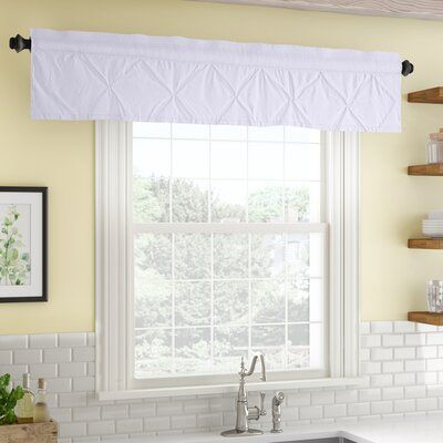 "Three Posts Stocksbridge Pintuck 60"" Window Valance Color Intended For Pintuck Kitchen Window Tiers (#38 of 43)"