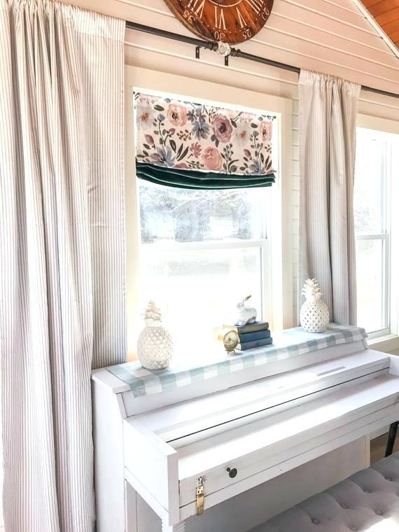 Ticking Stripe Curtains – Jjpainting Inside Farmhouse Stripe Kitchen Tier Pairs (View 27 of 30)