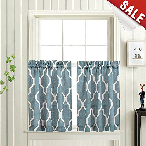 Tier Curtains 24 Inch Rod Pocket For Kitchen Casual Weave For Semi Sheer Rod Pocket Kitchen Curtain Valance And Tiers Sets (View 27 of 50)