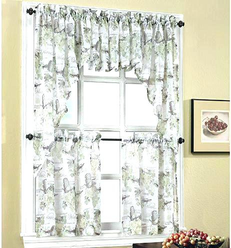 Tier Kitchen Curtains Lace Cafe Curtains Two Tier Kitchen For Luxurious Kitchen Curtains Tiers, Shade Or Valances (#40 of 50)