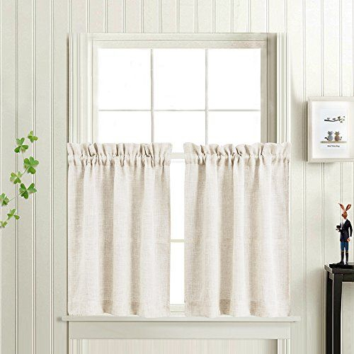 Tier Kitchen Curtains Linen Look Short Curtains For Bathroom In Simple Life Flax Tier Pairs (View 25 of 30)