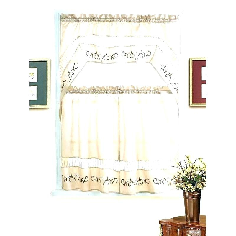 Tiered Valances Crochet Tailored Tier Pair White X – Woodspeak For Tailored Valance And Tier Curtains (#41 of 50)
