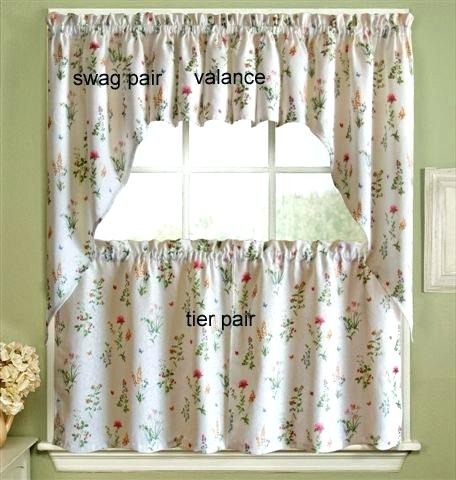 Tiered Valances Garden Kitchen Curtains – Woodspeak Pertaining To Floral Embroidered Sheer Kitchen Curtain Tiers, Swags And Valances (View 44 of 50)
