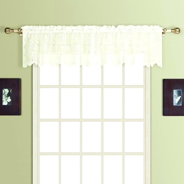 Tiered Valances Sterling Lace Kitchen Curtains With Tier Within Semi Sheer Rod Pocket Kitchen Curtain Valance And Tiers Sets (View 50 of 50)