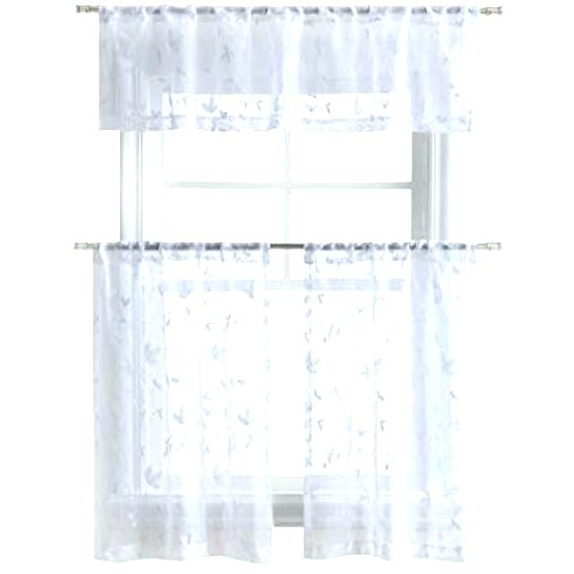 Tiered Valances – Woodspeak In Semi Sheer Rod Pocket Kitchen Curtain Valance And Tiers Sets (View 16 of 50)
