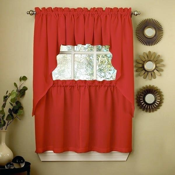 Tiered Valances – Woodspeak Inside Floral Embroidered Sheer Kitchen Curtain Tiers, Swags And Valances (View 48 of 50)