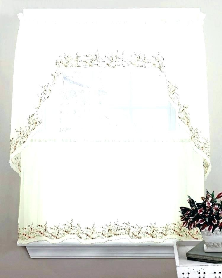 Tiered Valances – Woodspeak Inside Floral Lace Rod Pocket Kitchen Curtain Valance And Tiers Sets (View 48 of 50)