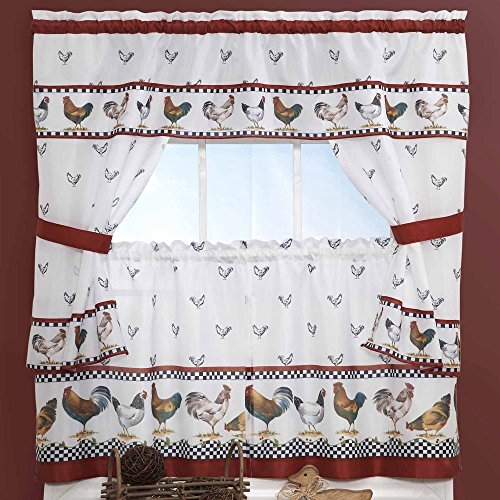 Top 17 Best Cottage Curtains – Top Decor Tips Inside Lodge Plaid 3 Piece Kitchen Curtain Tier And Valance Sets (#28 of 30)