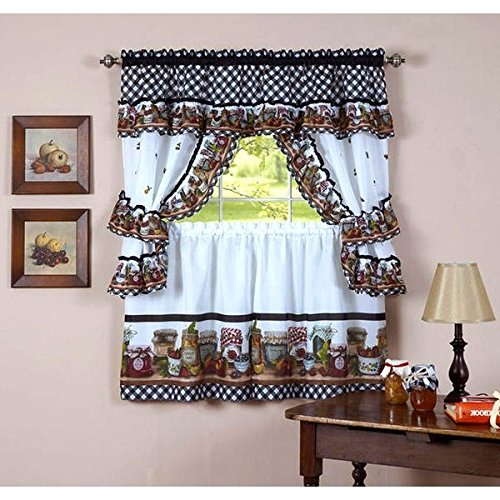 Top 17 Best Cottage Curtains – Top Decor Tips Regarding Lodge Plaid 3 Piece Kitchen Curtain Tier And Valance Sets (#29 of 30)