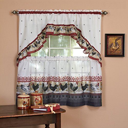 Top 17 Best Cottage Curtains – Top Decor Tips Within Cotton Blend Grey Kitchen Curtain Tiers (View 45 of 47)