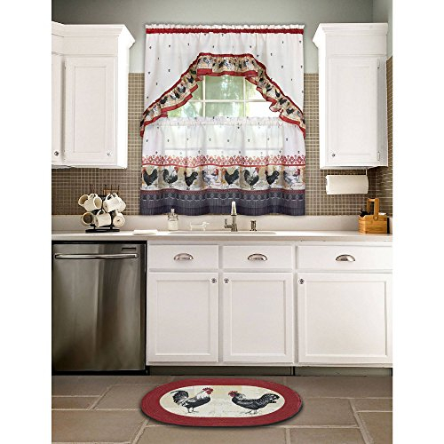 Top 20 Cabin Curtains – Top Decor Tips Throughout Multicolored Printed Curtain Tier And Swag Sets (View 27 of 30)
