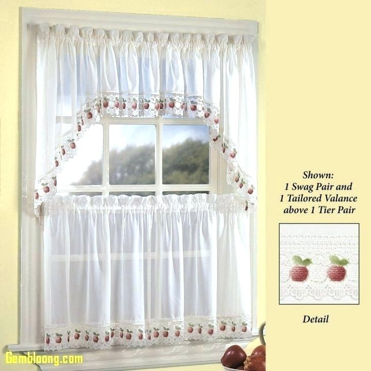 Touch Of Class Kitchen Curtains – Austininv With Tailored Valance And Tier Curtains (#44 of 50)