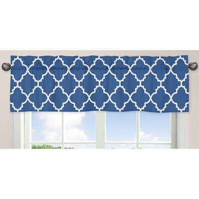 Trellis Blue And White Collection Window Valance For Trellis Pattern Window Valances (#23 of 30)
