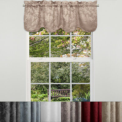 Trellis Scrolling Leaf Pattern Kitchen Window Curtain Tiers Throughout Imperial Flower Jacquard Tier And Valance Kitchen Curtain Sets (#39 of 46)