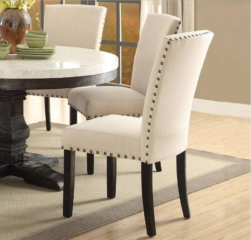 Trendy White Marble Top Black Round Dining Table Set 5 Pcs Acme For Nolan Round Pedestal Dining Tables (#25 of 30)