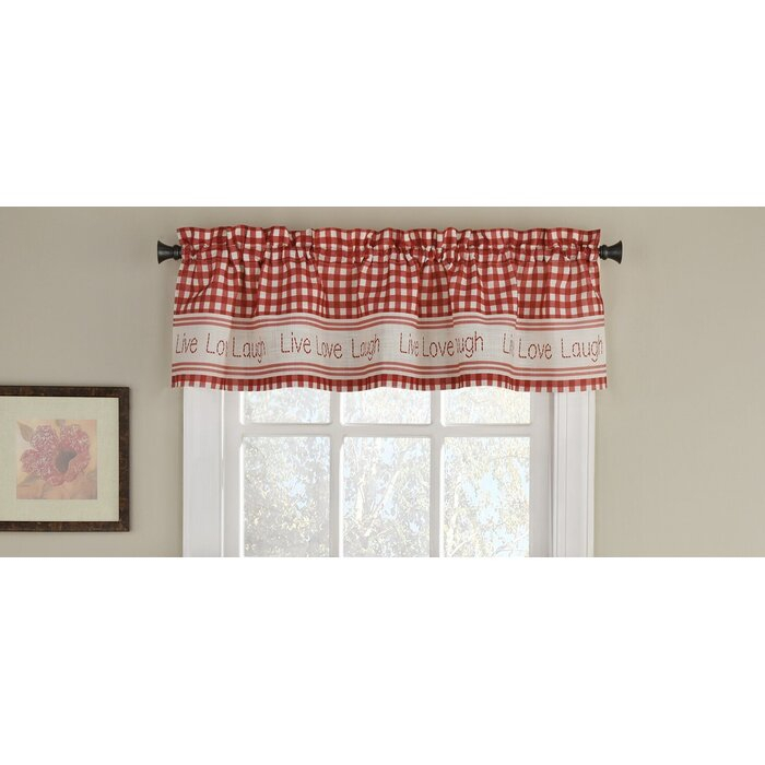 """Turley 50"""" Window Valance With Regard To Live, Love, Laugh Window Curtain Tier Pair And Valance Sets (View 40 of 50)"""