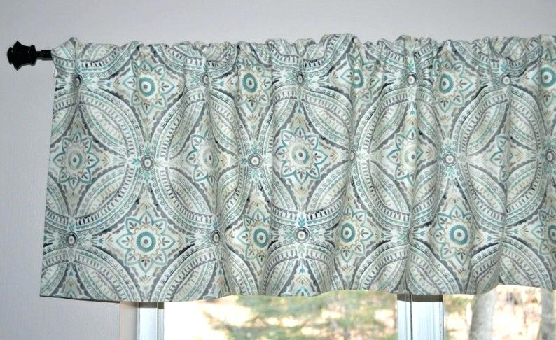 Turquoise Valance Curtains – Bluefinz Intended For Medallion Window Curtain Valances (View 19 of 48)