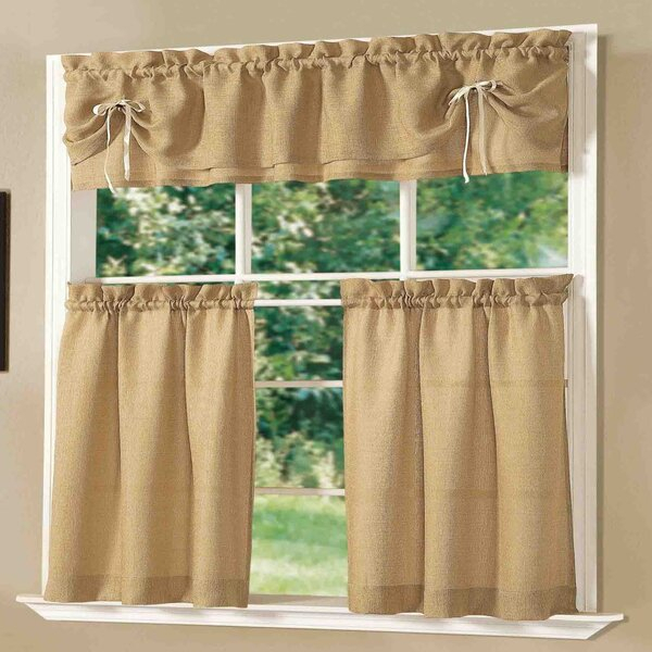 Tuscan Kitchen Valance   Wayfair Throughout Floral Watercolor Semi Sheer Rod Pocket Kitchen Curtain Valance And Tiers Sets (View 48 of 50)