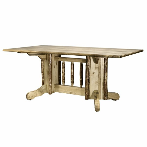 Tustin Double Pedestal Solid Wood Dining Table Pertaining To Preferred Cleary Oval Dining Pedestal Tables (#19 of 20)