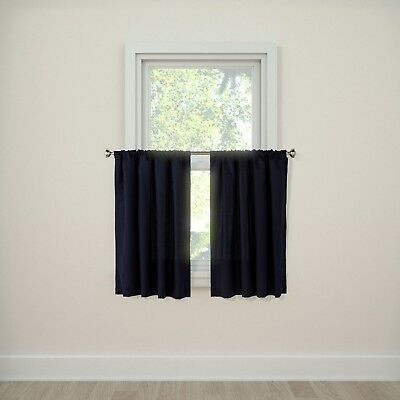 "Twill Café Curtain Tiers (36""x42"") – Room Essentials (1 Panel) Navy Blue 
