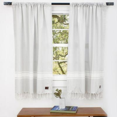 Inspiration about Ugg® Costa Mesa Rod Pocket Window Curtain Panels And Valance Within Rod Pocket Cotton Linen Blend Solid Color Flax Kitchen Curtains (#17 of 30)