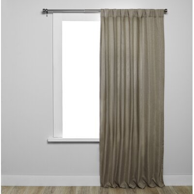 Umbra Kensington Solid Blackout Tab Top Single Curtain Panel Throughout Modern Subtle Texture Solid White Kitchen Curtain Parts With Grommets Tier And Valance Options (View 44 of 50)