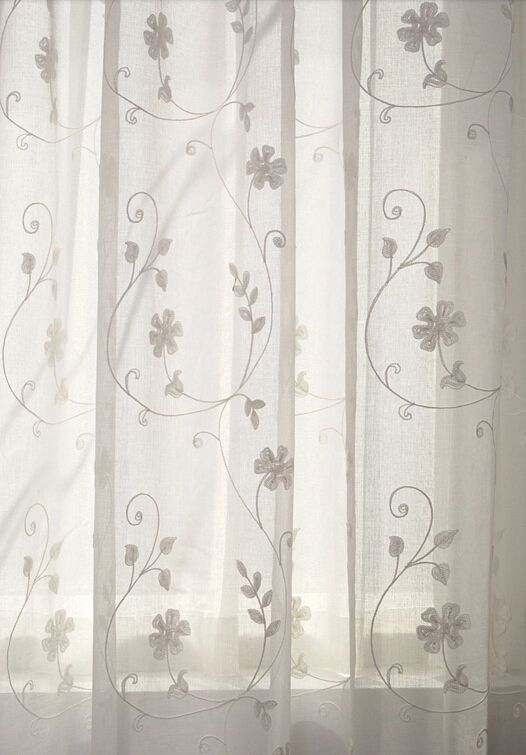 Unique White Sheer Curtains With Embroidery | Curtains With Marine Life Motif Knitted Lace Window Curtain Pieces (#44 of 48)