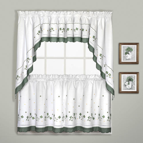 United Curtains Gingham Rod Pocket Light Filtering Curtain Within Light Filtering Kitchen Tiers (View 20 of 50)