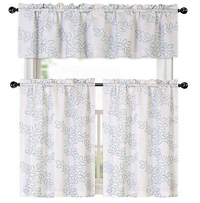 Inspiration about Urban Embroidered Lemon Tier And Valance Kitchen Curtain Set Pertaining To Urban Embroidered Tier And Valance Kitchen Curtain Tier Sets (#11 of 30)