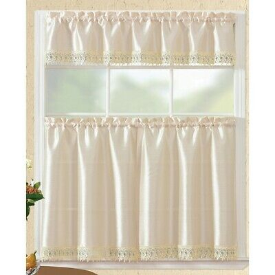 Inspiration about Urban Embroidered Lemon Tier And Valance Kitchen Curtain Set With Urban Embroidered Tier And Valance Kitchen Curtain Tier Sets (#20 of 30)