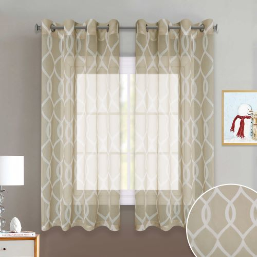 Inspiration about Us $13.23 47% Off|Nicetown 3 Colors Moroccan Pattern Trellis Design Bedroom  Window Privacy Translucent Voile Sheer Curtain Drapes For Dining Room In In Trellis Pattern Window Valances (#43 of 50)