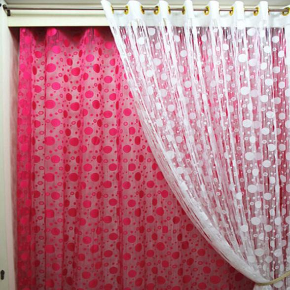 Inspiration about Us $2.79 32% Off|Circle Tassel String Door Curtain Window Room Divider  Curtain Valance Drapes In Curtains From Home & Garden On Aliexpress – With Regard To Circle Curtain Valances (#8 of 30)