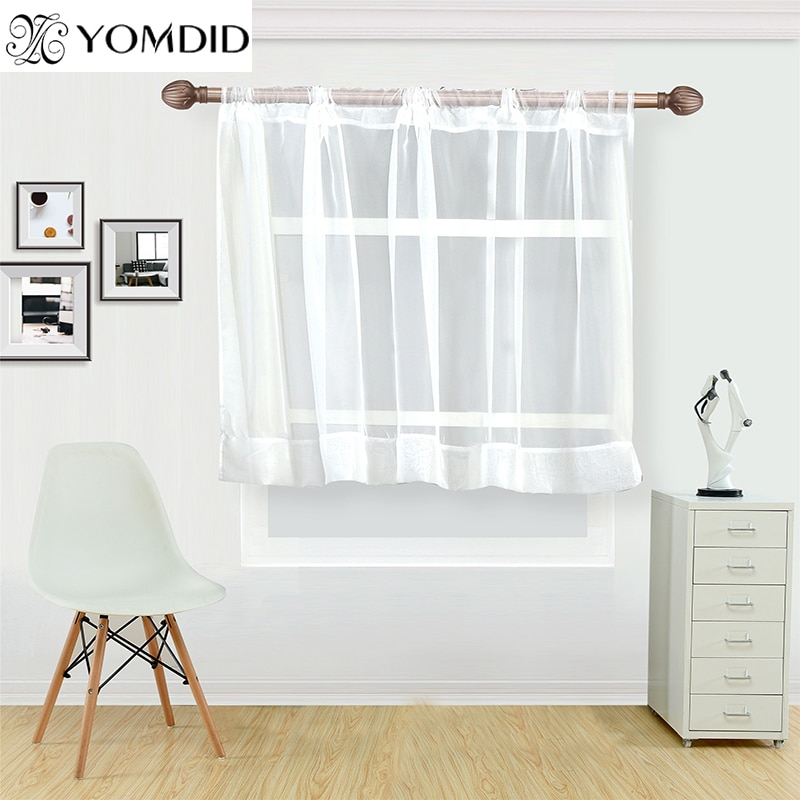Inspiration about Us $3.82 39% Off|White Coffee Curtain For Kitchen Half Window Tulle  Curtains Rustic Kitchen Living Room Curtains Europe Style Short Panel  Cortina In With Rustic Kitchen Curtains (#15 of 30)