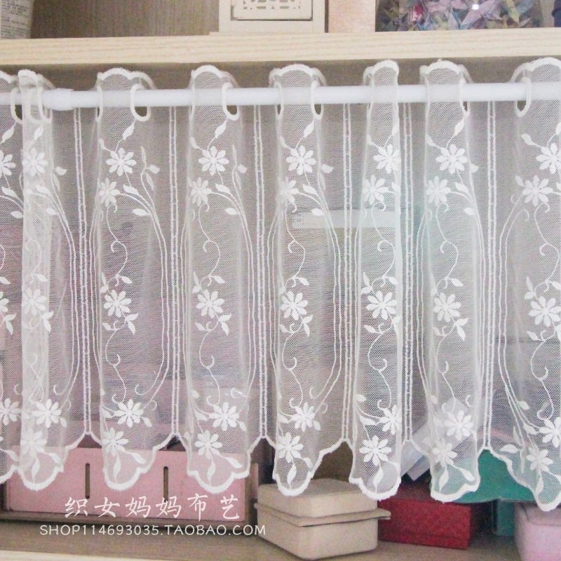 Inspiration about Us $6.84 15% Off|1Pc Small Coffee Curtain For Kitchen Half Window Valance  Curtain Rustic Kitchen Curtains Styles Cafe Short Panel Curtain In Curtains Intended For Rustic Kitchen Curtains (#12 of 30)