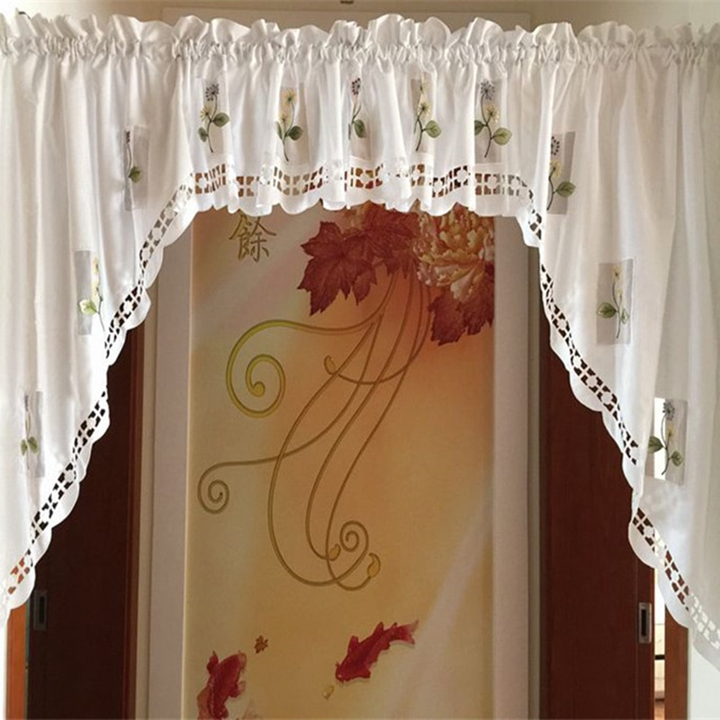 Inspiration about Us $7.65 15% Off|2017 Rustic Kitchen Curtains Styles Short Cafe Curtains  For Kitchen Door Curtain Embroidered Voile Window Curtains In Curtains From For Rustic Kitchen Curtains (#20 of 30)