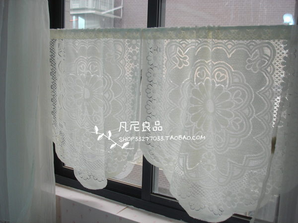 Inspiration about Us $8.88 |Free Shipping Jacquard Lace Country Mediterranean Fresh Rustic  Kitchen Curtains For Living Room Bedroom Coffee Curtain In Curtains From  Home Regarding Rustic Kitchen Curtains (#22 of 30)