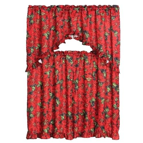 Valance And Tier Curtain Sets Decorative Kitchen Set Ruffled With Kitchen Window Tier Sets (#45 of 50)