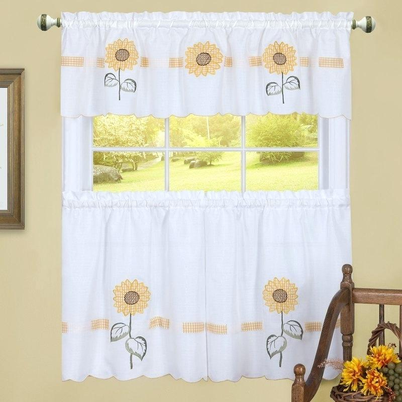Inspiration about Valance And Tier Curtain Sets – Wendellpurkey.co Throughout Live, Love, Laugh Window Curtain Tier Pair And Valance Sets (#33 of 50)