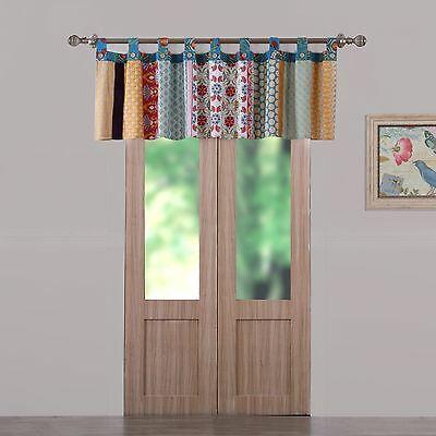 Valance Bohemian Floral Medallion Pieced Window Treatment Curtains | Ebay Regarding Medallion Window Curtain Valances (#45 of 48)
